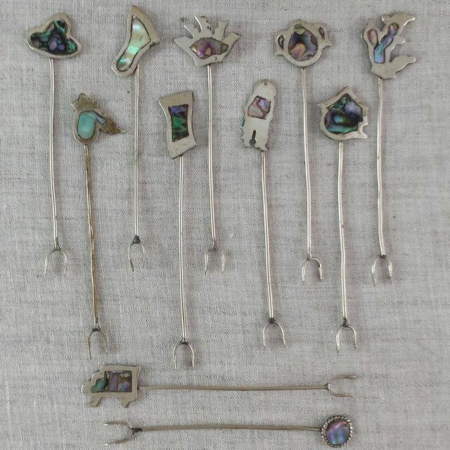 Vintage Alpaca Cocktail Forks - Set of 11 - Image 2 of 10