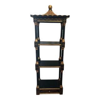 20th Century Chinoiserie Style Pagoda Wall Shelf For Sale