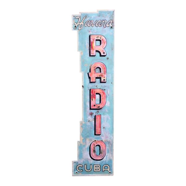 Radio Havana Cuba Neon Sign - Image 1 of 4