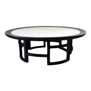 Asian Inspired Vintage Mid Century Italian Marble Coffee Table For Sale