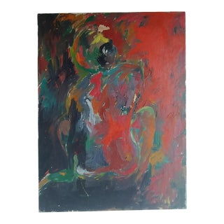 Original Painting Colorful Abstract Nude For Sale