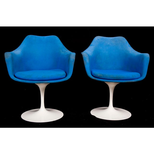 Mid-Century Modern Saarinen for Knoll Marble & Cast Iron Tulip Dining Set For Sale - Image 9 of 9