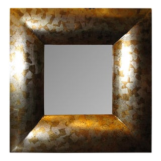 Silver & Gold Wall Mirror For Sale