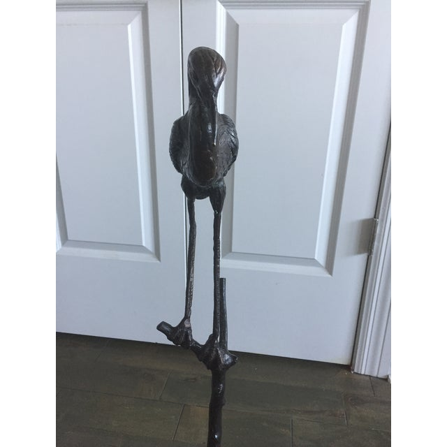 Early 20th Century Antique Bronze Heron Sculpture For Sale In Buffalo - Image 6 of 13