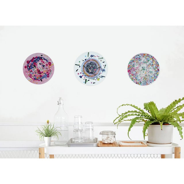 2010s Contemporary Multi-Colored Circular Painting by Natasha Mistry For Sale - Image 5 of 9