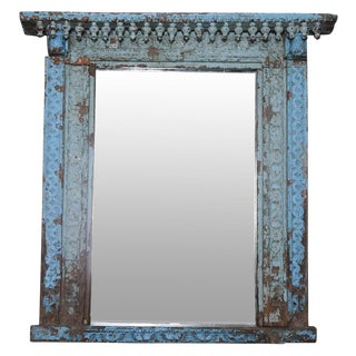 Turquoise Spindle Haveli Mirror