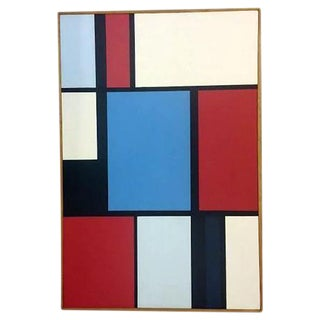 Florence Arnold Mid-Century Hard Edge Oil Painting For Sale