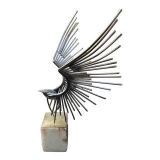 Vintage Curtis Jere Brutalist Metal Welded Eagle Sculpture For Sale