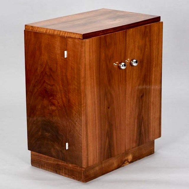 Art Deco Wooden Cabinet on Metal Stand - Image 4 of 9
