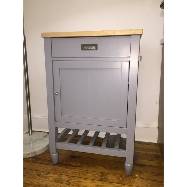 Crate & Barrel Kitchen Island With Butcher Block For Sale - Image 10 of 10