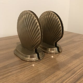 Vintage Brass Seashell Bookends - Set of 4 Preview