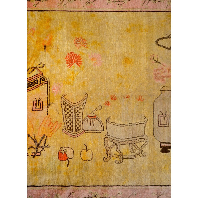Early 20th Century Pictorial Khotan Rug For Sale - Image 4 of 11