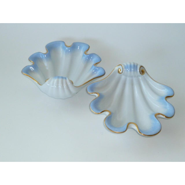 Pair of Deco 1939 Herend Shell Form Modern Vessels For Sale - Image 10 of 11