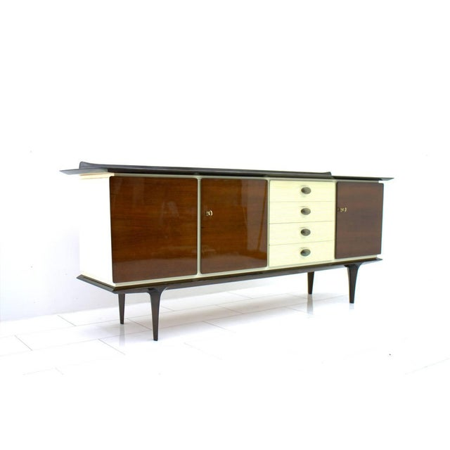 Mahogany and Brass Sideboard, Germany 1950s For Sale - Image 10 of 10