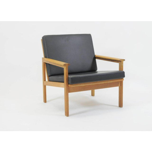 Black 1960s Illum Wikkelsø Danish Capella Lounge Chair For Sale - Image 8 of 9