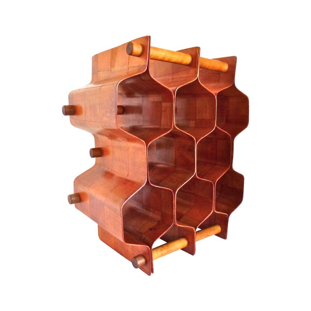 Torsten Johansson Bentwood Honeycomb Wine Rack - Image 1 of 8