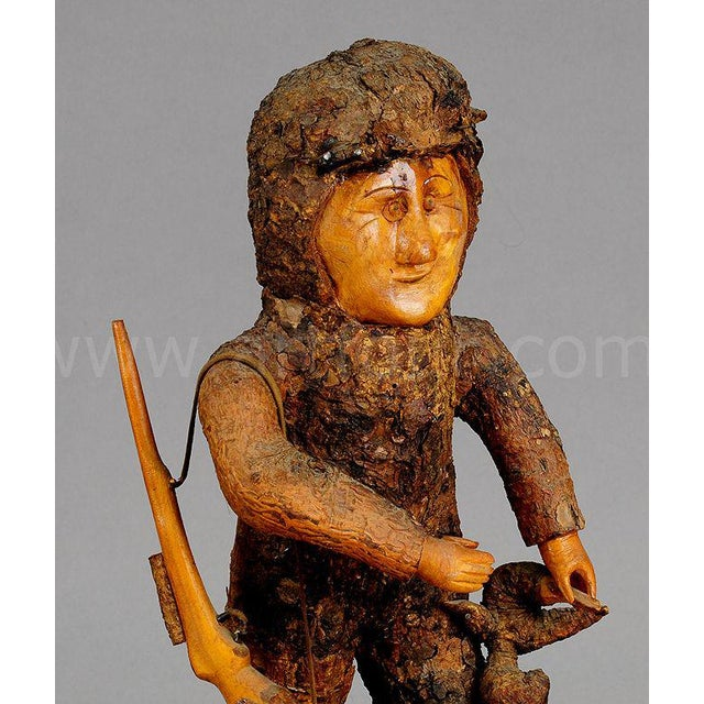 Rustic Black Forest Root Wood Hunter 1920 For Sale - Image 4 of 5