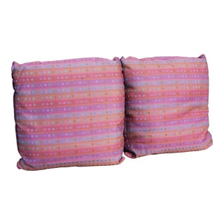 1980s Down Filled Pillows - A Pair For Sale