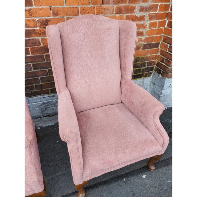 Vintage Blush Pink Velvet Armchairs - a Pair For Sale - Image 4 of 12