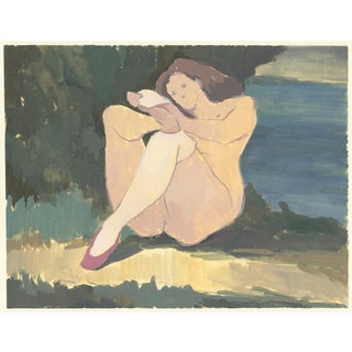 Original Painting Woman With White Socks For Sale