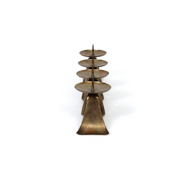 1960s Brass Candelabra by Hayno Focken For Sale - Image 5 of 11