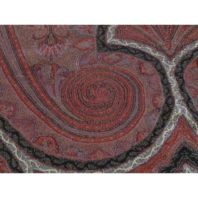 Mid 19th Century Antique Kashmiri Shawl For Sale - Image 5 of 9