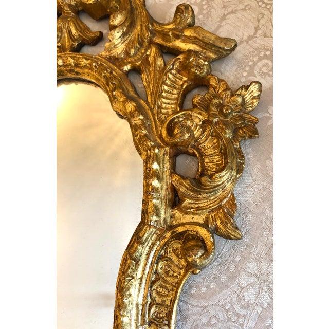 Wood Italian Cornucopia Gilt Wood Mirror, C. 1890-1930 For Sale - Image 7 of 13