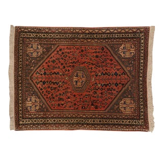 """Vintage Abadeh Square Rug - 3'4"""" X 4'4"""" For Sale"""