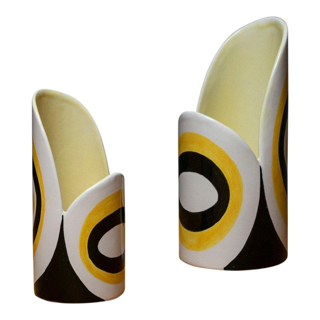 Pair of Ceramic Vases Manufactured by Zanolli and Sebellin For Sale