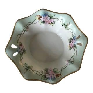 Antique Bavarian Porcelain Bowl, Signed For Sale