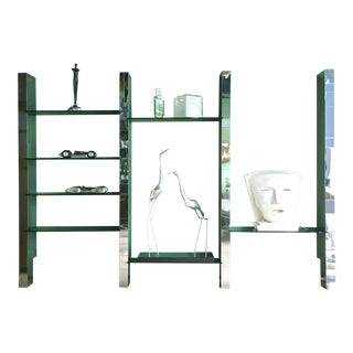 Large Paul Evans Cityscape Chrome Etagere Signed For Sale