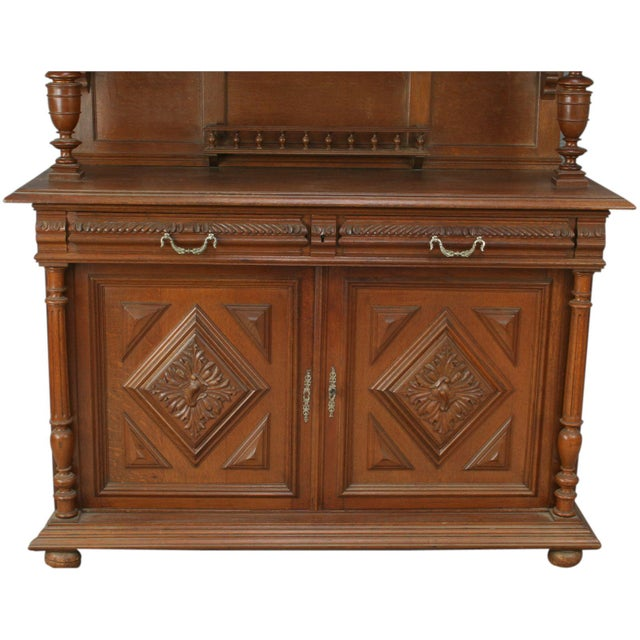 Antique French Renaissance Carved Buffet Server - Image 3 of 8