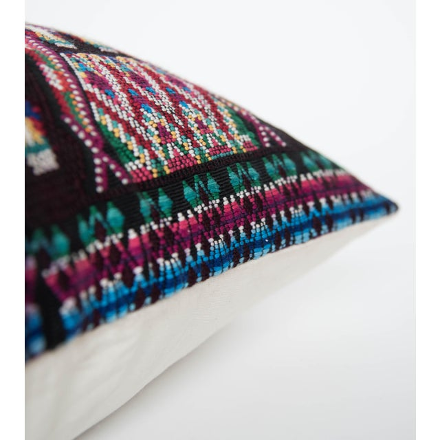 Vintage Black Guatemalan Pillow Cover - Image 3 of 4