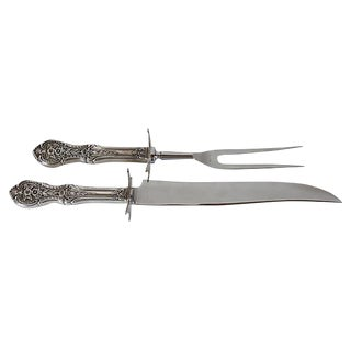 1920s Sterling Handle Carving Utensils - A Pair For Sale