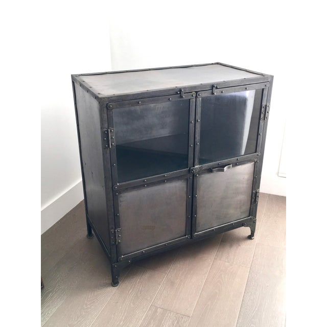 Industrial Antiqued Metal Cabinet - Image 2 of 9