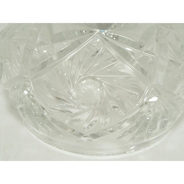 Glass Cut Crystal Dome Top Butter or Cheese Serving Dish For Sale - Image 7 of 9
