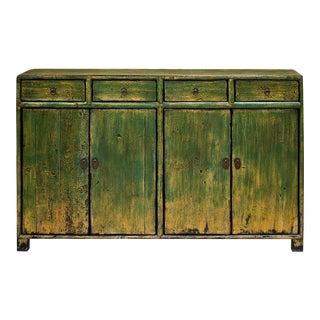 Vintage Elm Wood Mandarin Cabinet