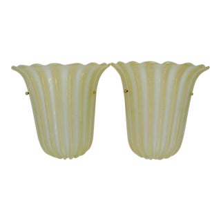 Barovier & Toso Glass Sconces, a Pair For Sale