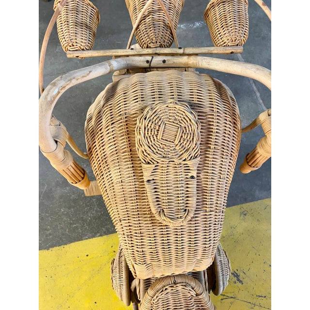 1970s 1970s Handmade Life-Size Wicker Motorcycle For Sale - Image 5 of 10