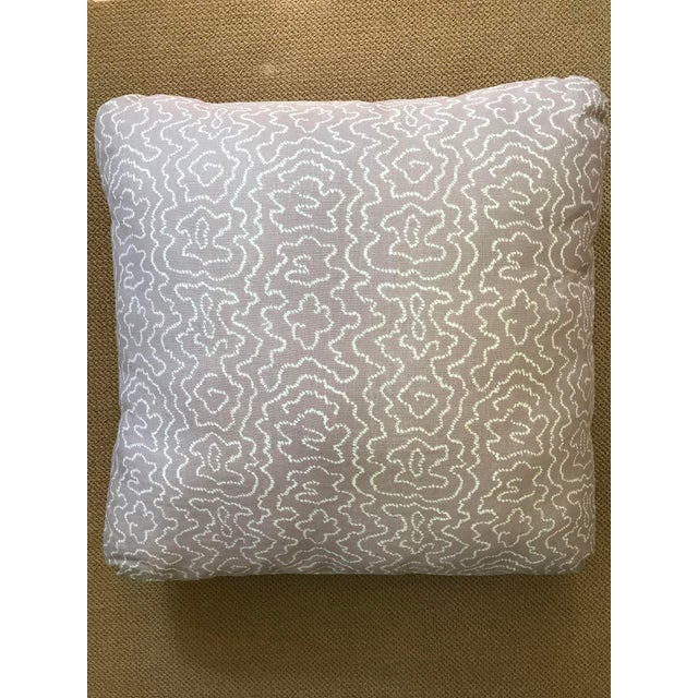 Pale Lavender Squiggle Print Pillow - Image 3 of 4