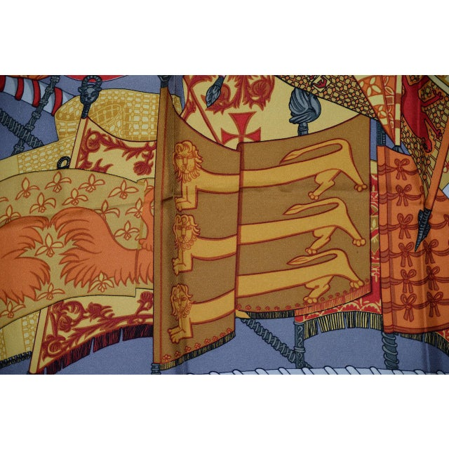 Hermes Flags & Banners Silk Scarf For Sale - Image 9 of 10