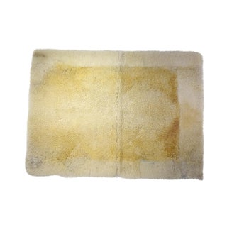 "Sheepskin Mat Eco-Friendly Rug Off-White Beige 2'6""x3'5"" For Sale"