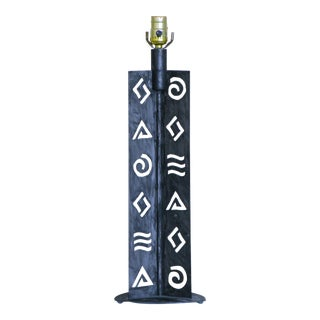 Abstract Post Modern Hieroglyphs Lamp by Robert Sonneman for George Kovacs For Sale