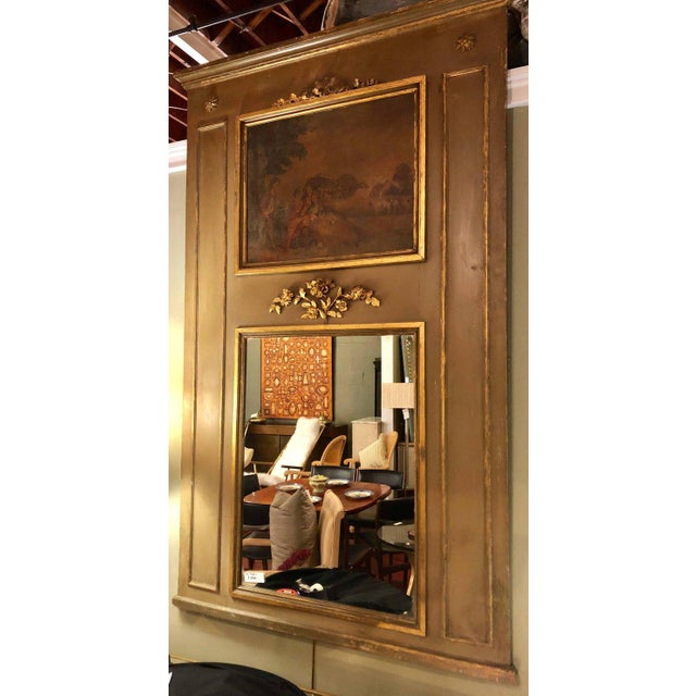 Belle Epoque 19th Century Trumeau Mirror For Sale - Image 3 of 11