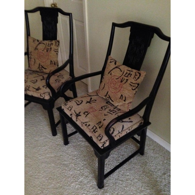 Asian 1970s Vintage Century Furniture Co Chin Hua Dining Armchairs- A Pair For Sale - Image 3 of 6