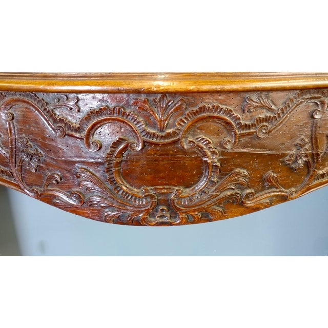 19th Century Hand Carved Walnut Fireplace Mantel - Image 5 of 10