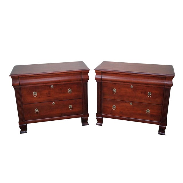 """Ethan Allen British Classics """"Daryn"""" Chests Nightstands - A Pair For Sale"""