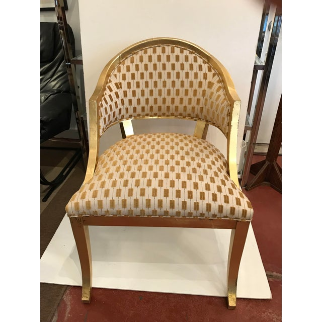 Century Gold Leaf Amelia Chair For Sale - Image 10 of 10
