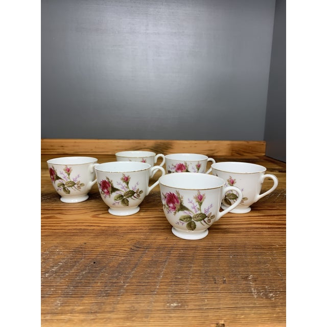 Pink Roses Tea and Teapot Set For Sale - Image 9 of 12