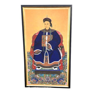 Monumental Chinese Ancestral Portrait Painting For Sale